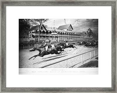 Horse Racing, 1889 Framed Print by Granger
