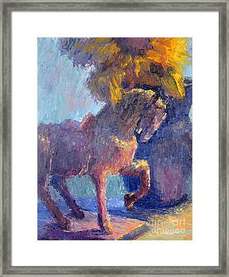Horse Statue Framed Print by Terry  Chacon