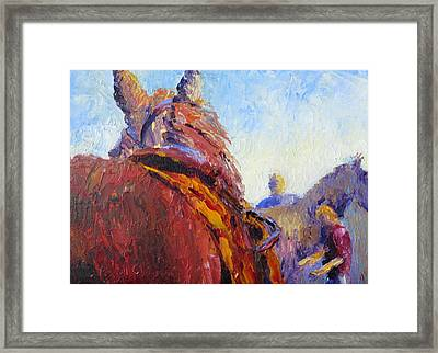 Horse Trainer Framed Print by Terry  Chacon