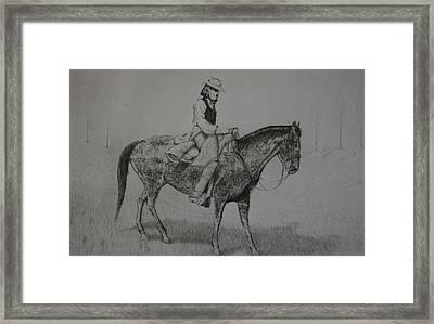 Horseman Framed Print by Stacy C Bottoms