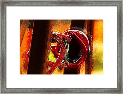 Horseshoe Rift Framed Print by Bill Tiepelman