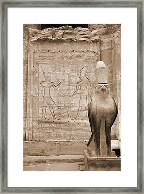 Horus Temple Framed Print by Donna Corless