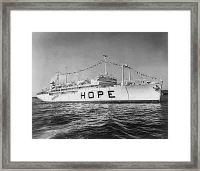 Hospital Ship, S.s. Hope , 15,000-ton Framed Print by Everett