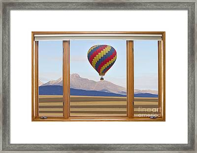 Hot Air Balloon Colorado Wood Picture Window Frame Photo Art Vie Framed Print by James BO  Insogna