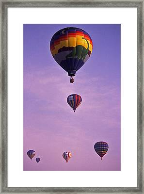 Hot Air Balloon Race - 3 Framed Print by Randy Muir