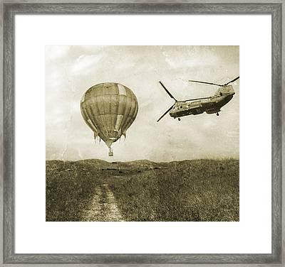 Hot Air Cool Air Framed Print by Betsy Knapp