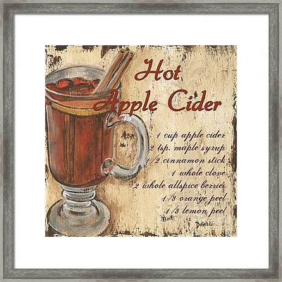 Hot Apple Cider Framed Print by Debbie DeWitt