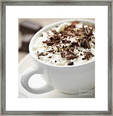 Hot Chocolate Framed Print by Elena Elisseeva