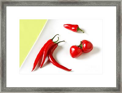 Hot Peppers Framed Print by HD Connelly
