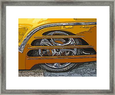 Hot Rod Wheel Cover Framed Print by Samuel Sheats