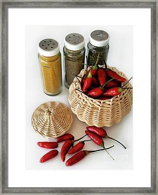 Hot Spice Framed Print by Carlos Caetano