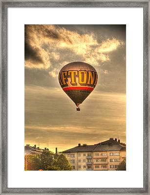 Hotair Framed Print by Barry R Jones Jr