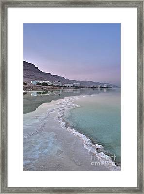 Hotel On The Shore Of The Dead Sea Framed Print by Noam Armonn