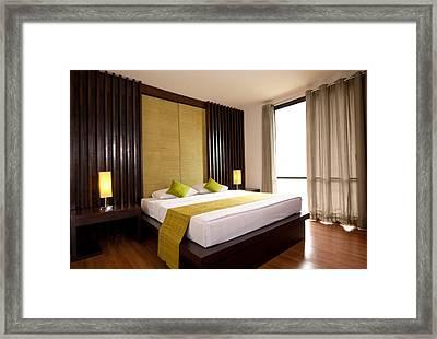 Hotel-room Framed Print by Atiketta Sangasaeng