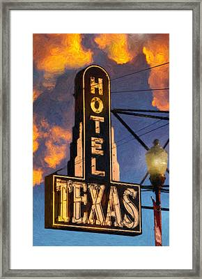 Hotel Texas Framed Print by Jeff Steed