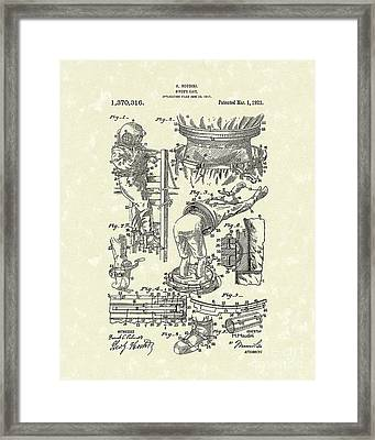 Houdini Divers Suit 1921 Patent Art Framed Print by Prior Art Design