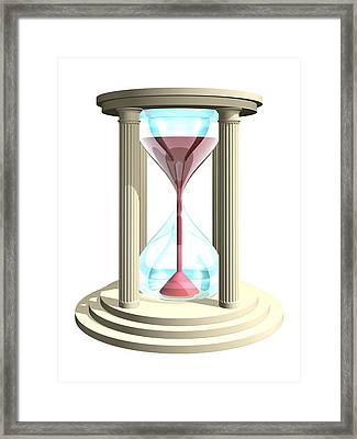 Hourglass, Artwork Framed Print by Laguna Design