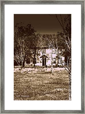 House At The End Of The Street Framed Print by Alyssa Marek