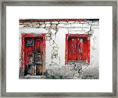 House For Sale Framed Print by Maria Barry