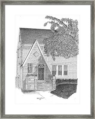 House / Home Rendering Framed Print by Marty Rice