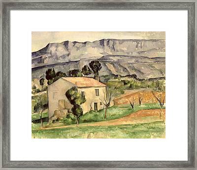 House In Provence Framed Print by Paul Cezanne