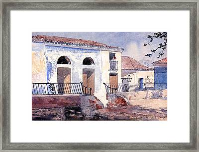House In Santiago Framed Print by Winslow Homer