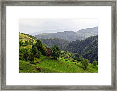 House In The Apuseni Mountains Framed Print by Emanuel Tanjala