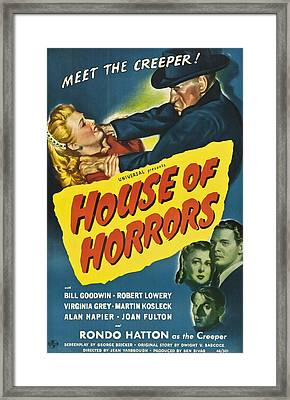 House Of Horrors, Top Right Rondo Framed Print by Everett