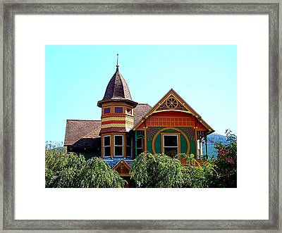 House Of Many Colors Framed Print by Nick Kloepping