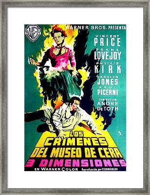 House Of Wax, Vincent Price Featured Framed Print by Everett