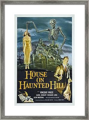 House On Haunted Hill, Alternate Poster Framed Print by Everett