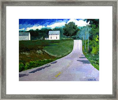 House On The Hill Framed Print by Charlie Spear