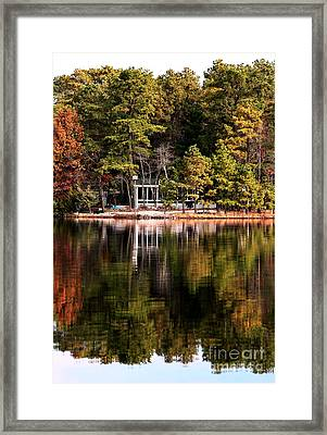 House On The Lake Framed Print by John Rizzuto
