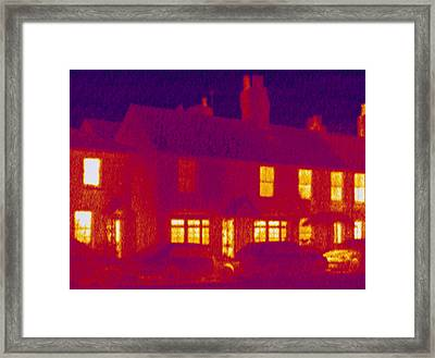 House, Thermogram Framed Print by Tony Mcconnell