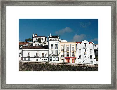 Houses In Ponta Delgada Framed Print by Gaspar Avila