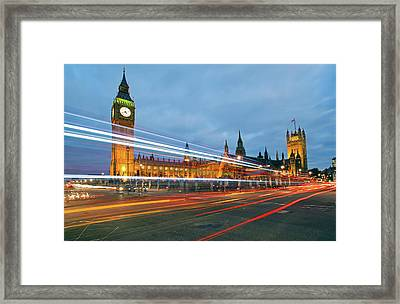 Houses Of Parliament Framed Print by Ray Wise
