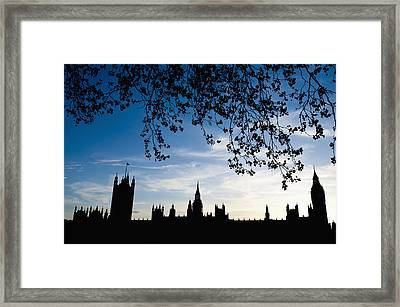 Houses Of Parliament Silhouette Framed Print by Axiom Photographic