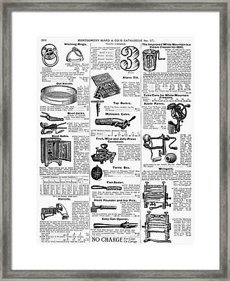 Housewares, 1895 Framed Print by Granger