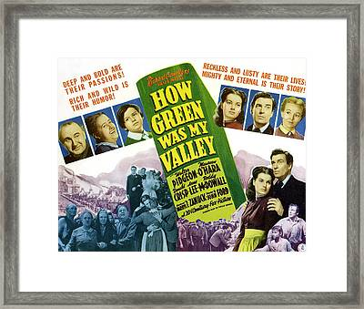 How Green Was My Valley, Maureen Ohara Framed Print by Everett