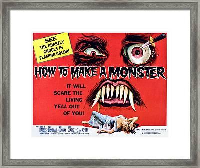 How To Make A Monster, Half-sheet Framed Print by Everett