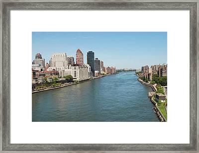 Hudson River, New York City Framed Print by Thepurpledoor