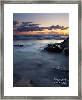 Hug Point Sunset Framed Print by Mike  Dawson
