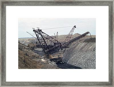 Huge Strip Mining Machinery Consuming Framed Print by Everett