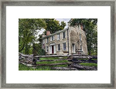 Hull House 1810 Framed Print by Peter Chilelli