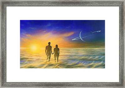 Humanity And The Universe, Artwork Framed Print by Richard Bizley
