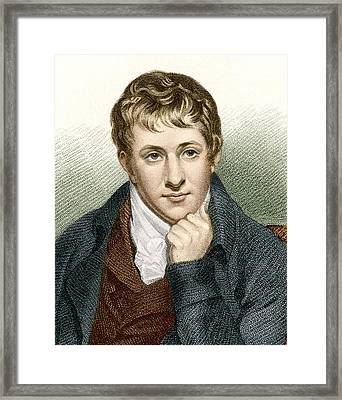 Humphry Davy, English Chemist Framed Print by Sheila Terry