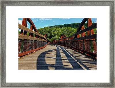 Humps And Shadows Framed Print by Rachel Cohen