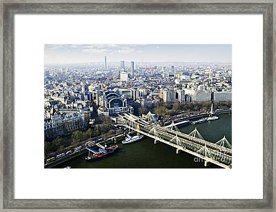 Hungerford Bridge Seen From London Eye Framed Print by Elena Elisseeva