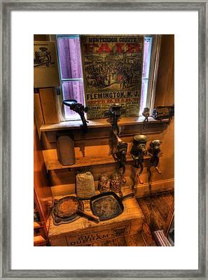 Hunterdon County Fair - General Store - Vintage - Nostalgia - Meat Grinders Framed Print by Lee Dos Santos