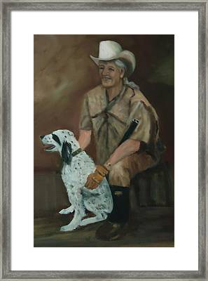 Hunting Dog And Master Framed Print by Betty Pimm